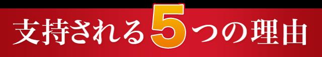 支持される5つの理由